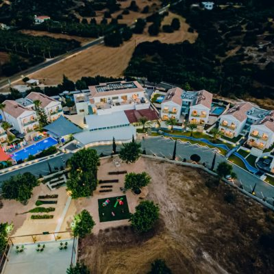 Aerial view of the best hotel in Latchi