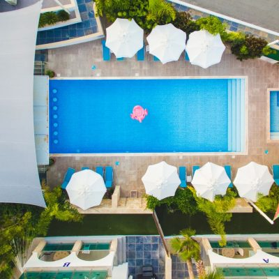 Luxury accommodation in Polis - pool aerial view