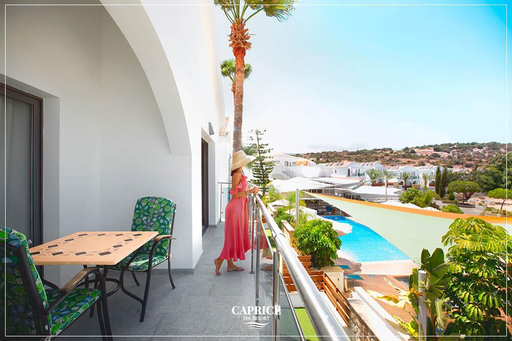 caprice spa resort deluxe one bedroom kitchen terrace