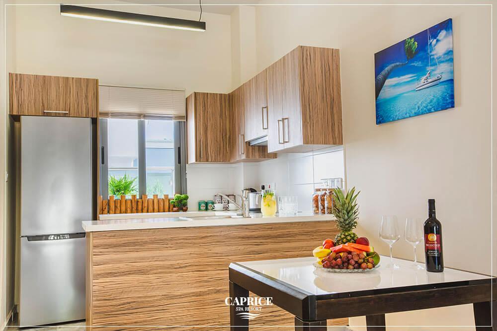 caprice spa resort deluxe one bedroom kitchen
